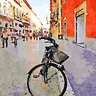 Teramo: bicycle in the street by Giuseppe Cocco