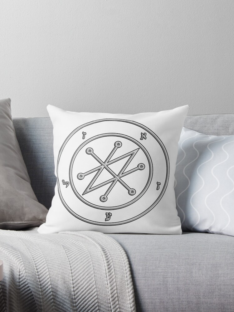 'Old magic symbol to call of azazel' Throw Pillow by SFPater