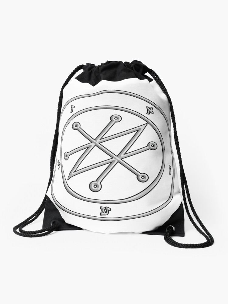 Old magic symbol to call of azazel | Drawstring Bag
