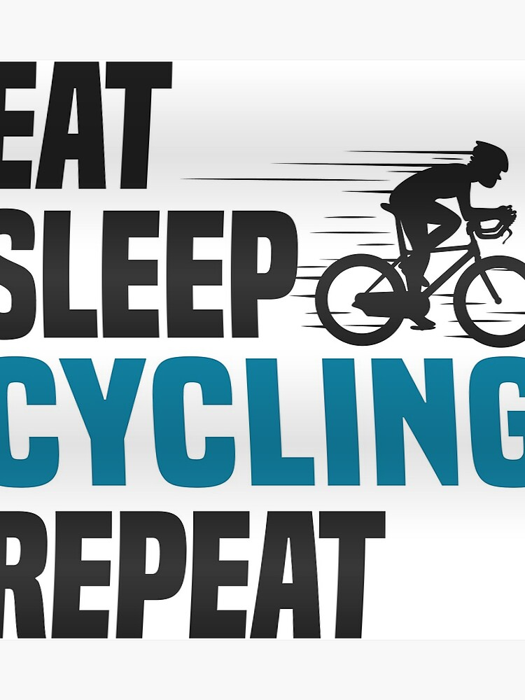 Eat Sleep Cycling Repeat T Shirt Cooles Lustiges Nerdy Comic