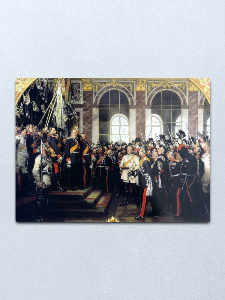 Alternate view of  Proclamation of the German Empire, 1871 Metal Print