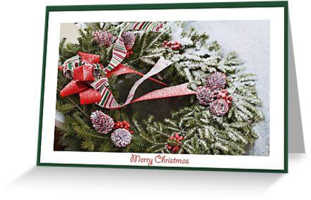 Christmas Wreath Card by csegalas