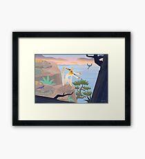 Caulkicephalus Cliffs Framed Print