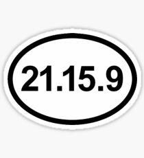 21-15-9 CrossFit Sticker