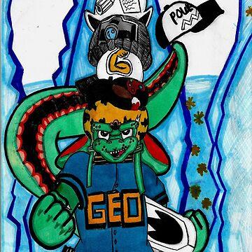 GEO A DINOSAUR OF MANY HATS by shortfusetcjust