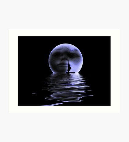Moon.. Art Print