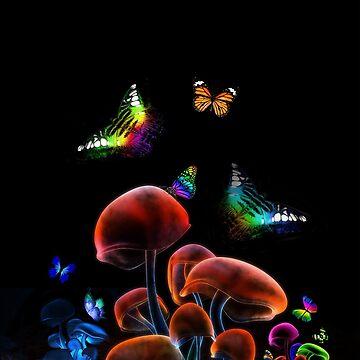 WORLD GLOWING MUSHROOMS by johnnyssandart