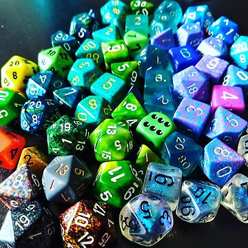 Let's Roll: Colorful tabletop rpg dice by CalliopeSoul