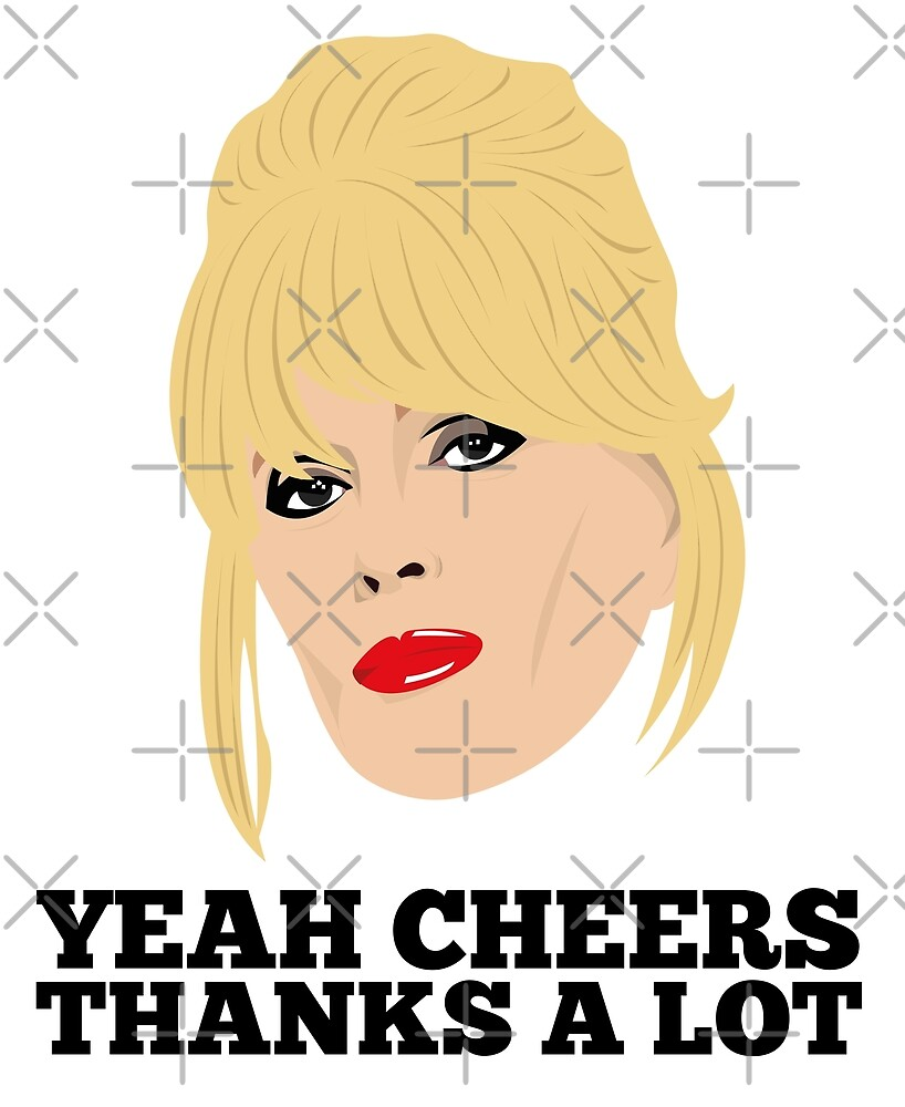 Ab Fab's Patsy Stone - White Design by gregs-celeb-art
