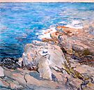 Study of Childe Hassam's South Ledges Appledore by Jim Phillips