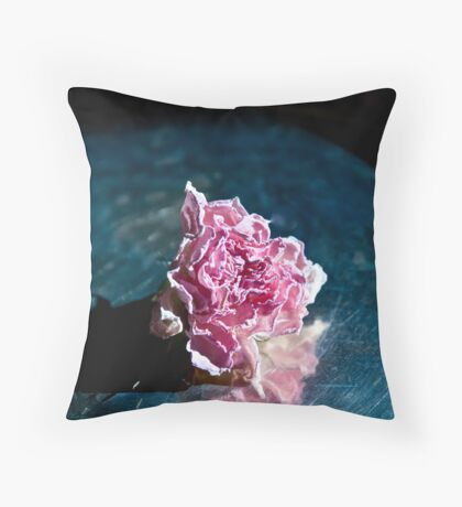 A Dried Rose Throw Pillow