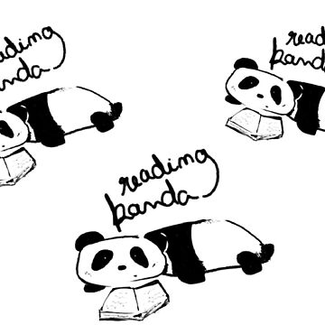 Reading Panda by munchkinboutiq