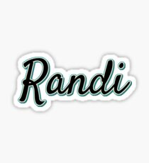 Randi Name Sticker