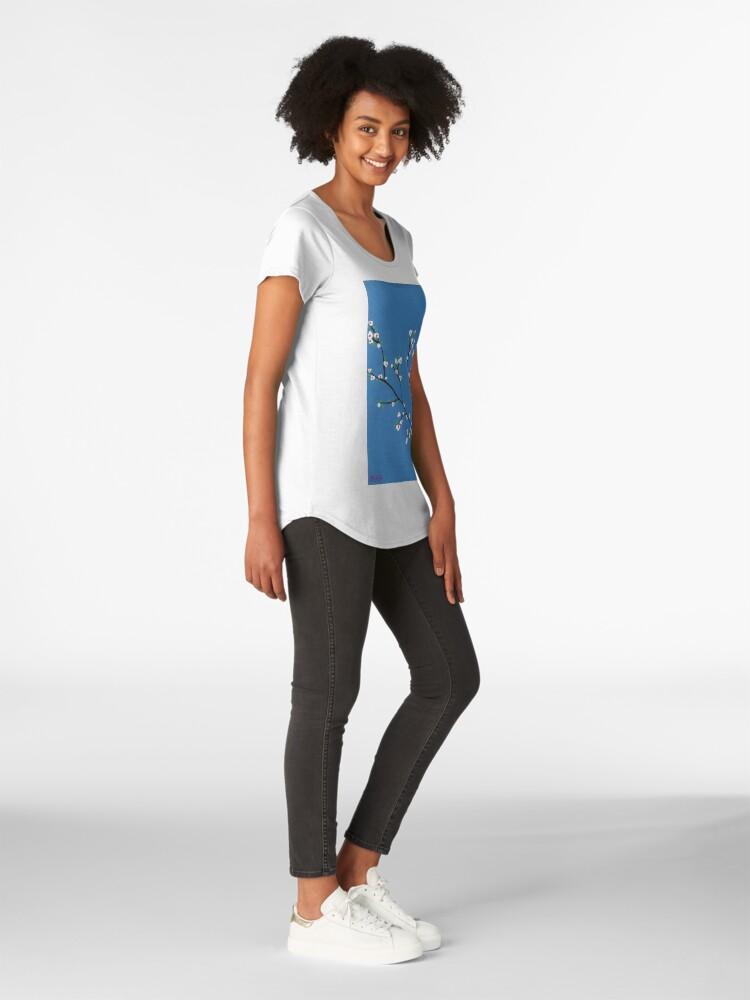 Alternative Ansicht von Blüten Premium Rundhals-Shirt
