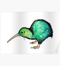 Cute Kiwi - Watercolour Art Poster