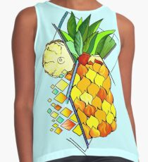 Pineapple and fruits Contrast Tank