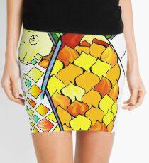 Pineapple and fruits Mini Skirt