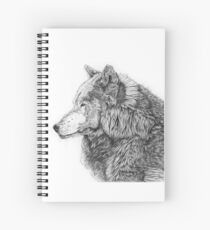 Rocky Mountain Grey Wolf Spiral Notebook