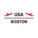 Boston USA Airport Plane Light-Color by TinyStarAmerica