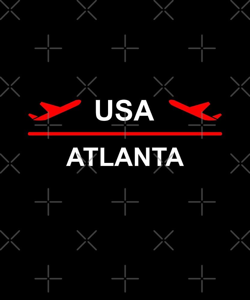 Atlanta USA Airport Plane Dark Color by TinyStarAmerica