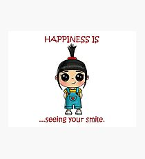 Smile Quotes - Inspirational Quotes - Motivational Quotes Photographic Print