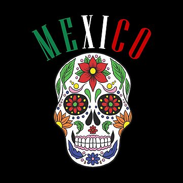 Mexico Sugar Skull Day Of The Dead by goodspy