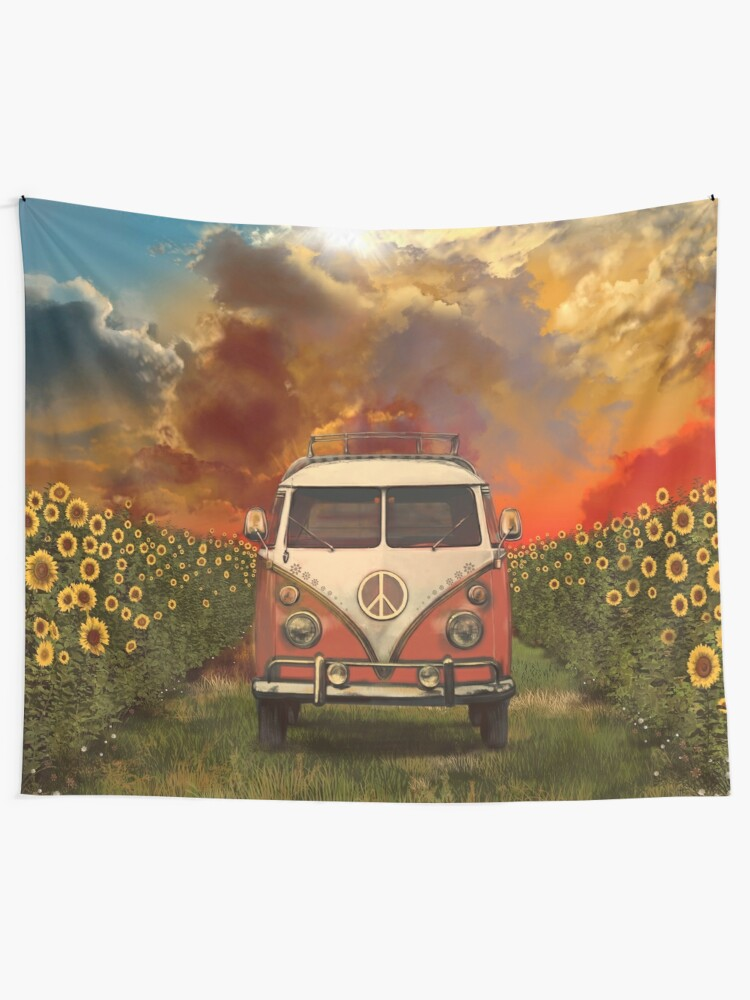 Alternate view of sunflowers Wall Tapestry