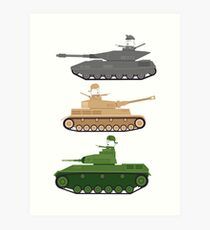 Battle Tanks Art Print