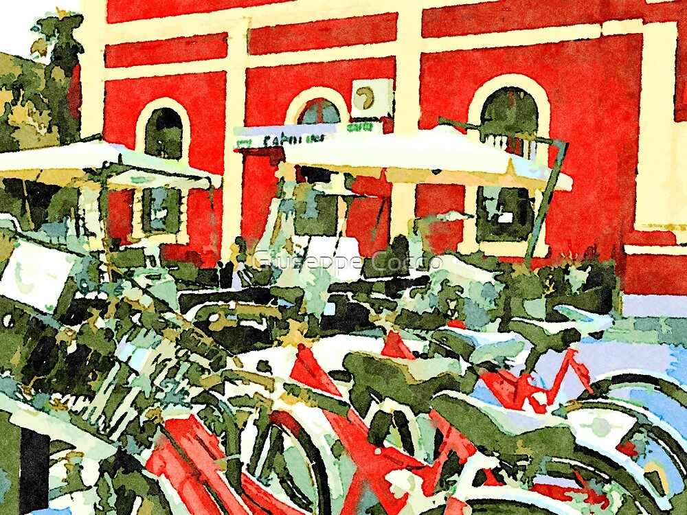 Teramo: railway station and bicycle by Giuseppe Cocco