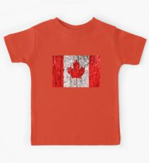 Canadian Flag Tree Bark Kids Tee