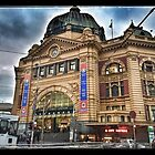 Grand old Flinders Street Railway Station by visualimagery