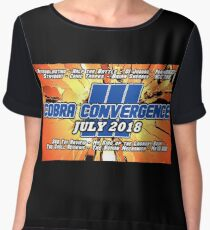 Cobra Convergence III logo with channel names Chiffon Top