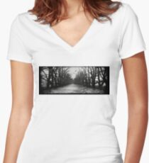 The Shortcut  Women's Fitted V-Neck T-Shirt