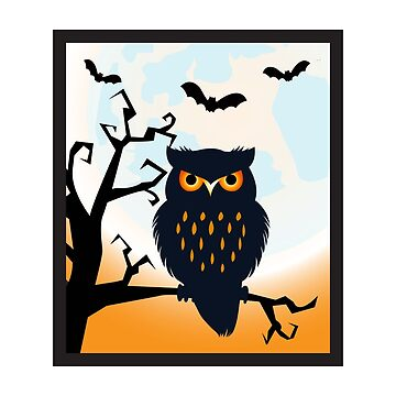 Scary Halloween Owl by leftty