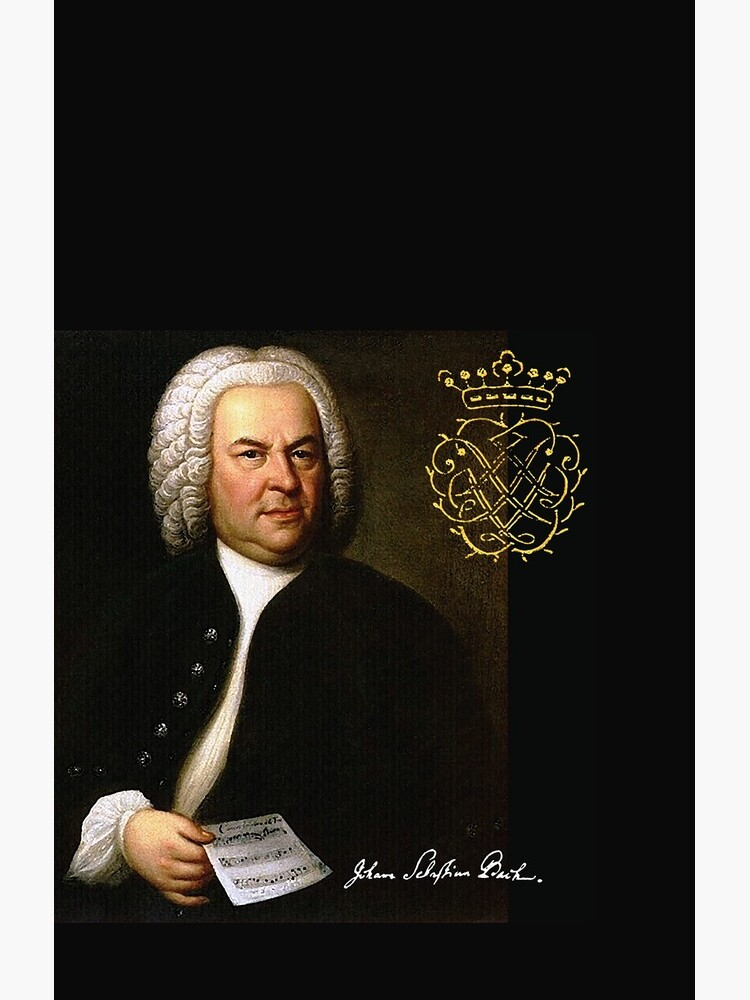 Bach with his Monogram by edsimoneit