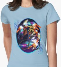 Bright Horse Oval Womens Fitted T-Shirt
