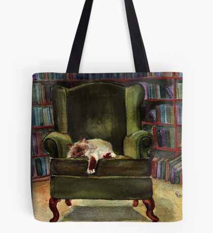 Monkey's Library Tote Bag