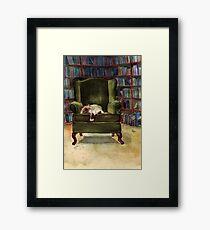 Monkey's Library Framed Print
