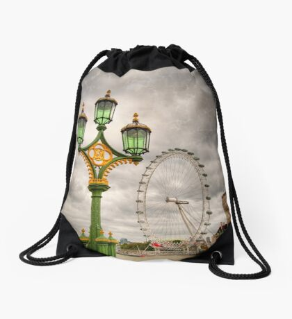 The Eye is the Lamp of the Body Drawstring Bag
