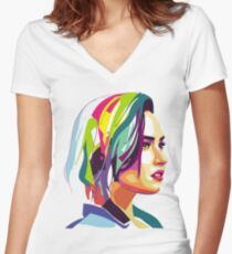 Musica-351 Women's Fitted V-Neck T-Shirt