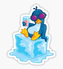 Penguin On Ice Sticker