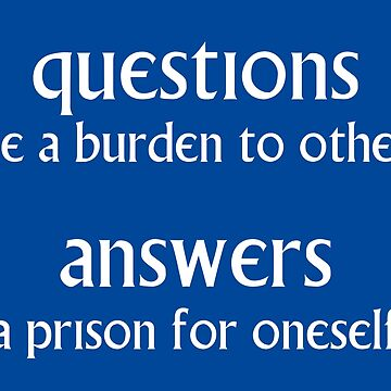 Questions and Answers by kryten4k