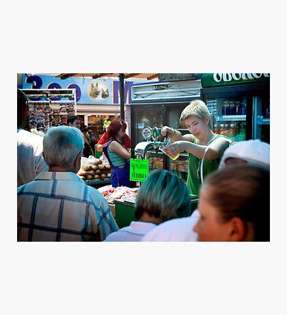 Beer in the Bazaar Photographic Print