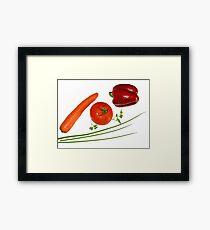 red vegetables Framed Print