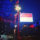 Singapore's 53rd Birthday: An Electric Flag at Tampines West  by 1987designs