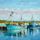 Fishing Boats in Lakes Entrance, Gippsland, Victoria, Australia by Dai Wynn