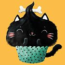 Cute Halloween Black Cat Cupcake by colonelle