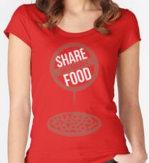 Joey Doesn't Share Food! - Friends Women's Fitted Scoop T-Shirt