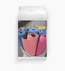 Yoga Mats in a bin Duvet Cover