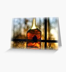 Glass Jar in Winter Greeting Card